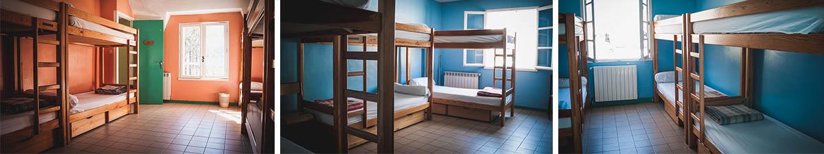 centre de vacances dans les Pyrénées, les chambre du haut
